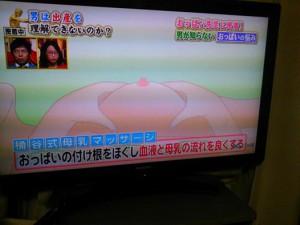 たまたま桶谷式母乳マッサージがTVで